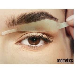 Brow wax strips (hair removal)