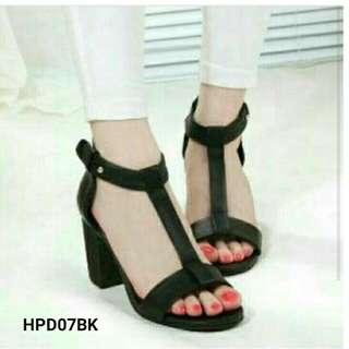 Sepatu Wanita Murah Heels Platform Basic HPD07BK