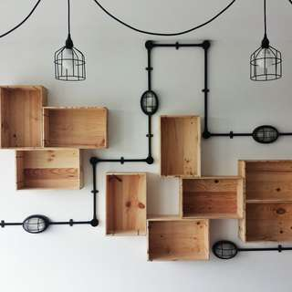 Wine Crate Wall For Industrial Home