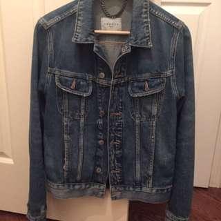 Sandro light wash denim jacket Size Medium