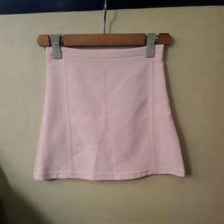 Baby Pastel Pink A-line Mini Skirt