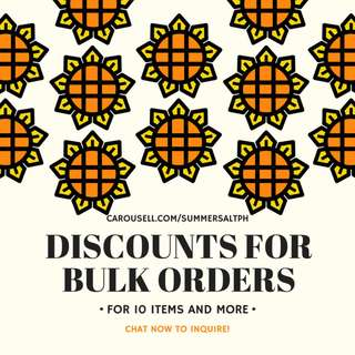 DISCOUNTS FOR BULK ORDERS!