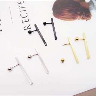 抗敏感醫療鋼個性線型設計耳環