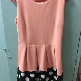 Polka dot pink dress