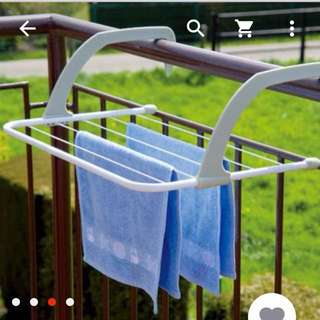 Folding Multi-purpose Clothes-horse Towel Rack Radiator Drying Rack Out of the Window Rail Hanger The bathroom door Clothes-horse