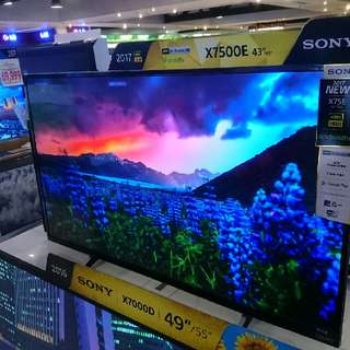 Brand New SONY bravia UHD 4K Smart Led Tv 43x7500e 43x8000e 49x7500e