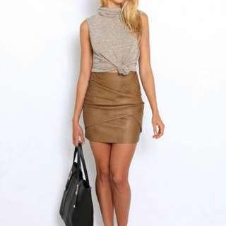 Gingham and Heels Jackson PU skirt