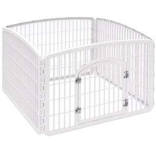 IRIS Pet Playpen with Door, 24-Inch Dog Cat Cage Frame Play Area Play Pen Made in USA