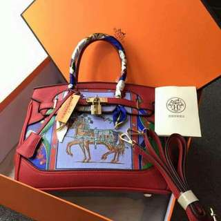 Hermes Kelly with twilly