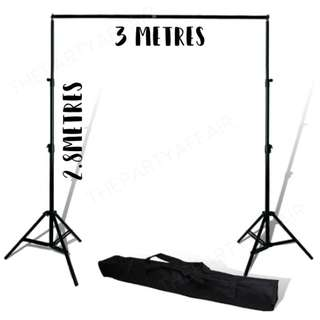 RENT - PHOTOBOOTH/BACKDROP STAND 2.8M x 3M
