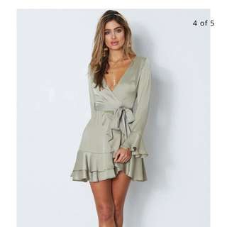 Rent! olive playsuit size 8