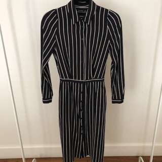 Zara Striped Shirt Dress