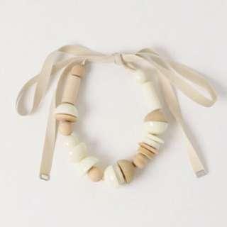 SLY壓克力緞帶項鍊