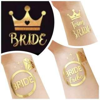 Temporary Bride / Bachelorette Tattoo