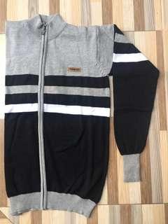 Jaket Sweater Grey-Black