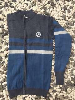 Jaket Sweater Dark Grey-Blue