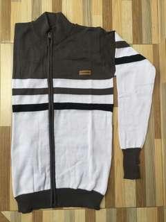 Jaket Sweater Brown-White