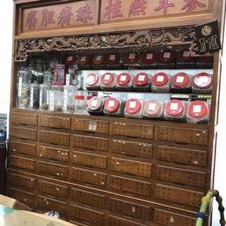 中藥櫃 6尺8 檜木 50年以上收藏