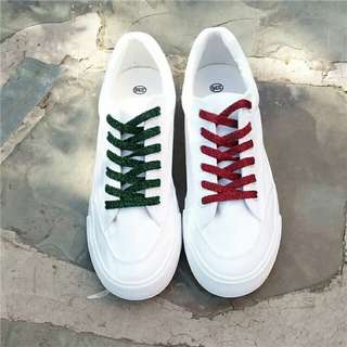 shinny colored shoe lace for sneakers