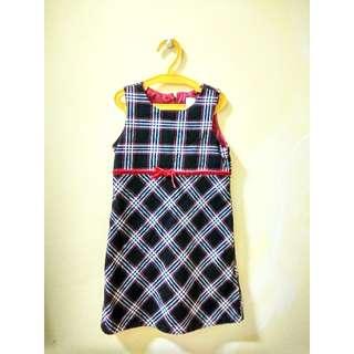 Black Elegant Checkered Dress