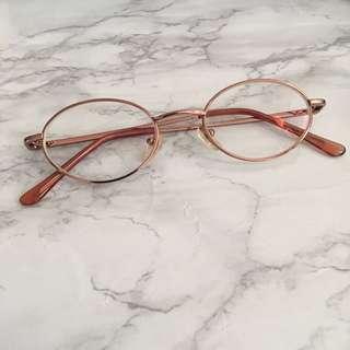 眼鏡開倉 虧本價 玫瑰金色 名牌 fotovisao 眼鏡 輕身金屬 耐用