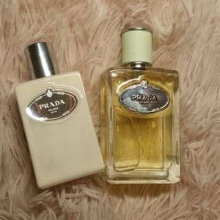 Prada Infusion D'iris perfume and body lotion