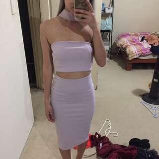 Lilac set dress size 6