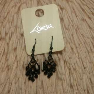 New unworn lovisa black earrings