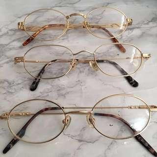 眼鏡開倉 虧本價 名牌 眼鏡 輕身金屬 耐用 復古鏡 glass frame