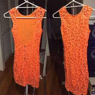 Sabo Skirt Lace backless dress size 6