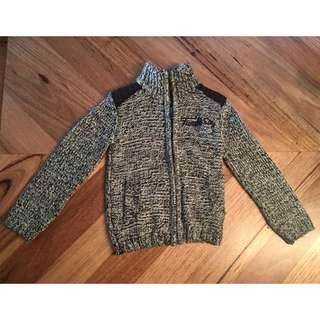 Boys tumble & dry knitted zip jacket, size 3 - 4