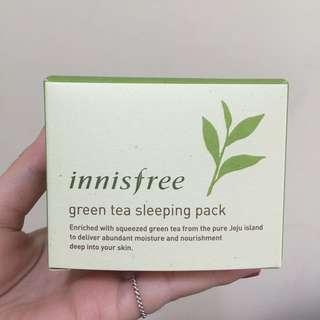 (免運)Innisfree 綠茶保濕晚安凍膜