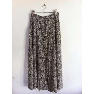 Vintage Long Floral Skirt Size 10