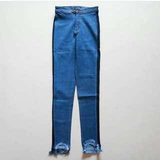 Celana jeans two tone