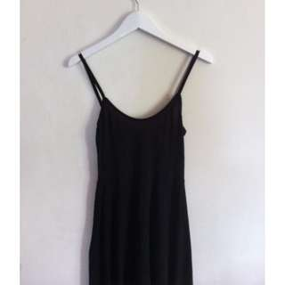 Long Black Metalicious Dress Size 10/12