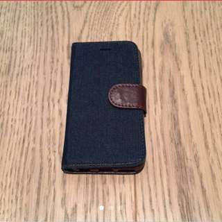 iPhone 6 6s Case Leather Denim card holder