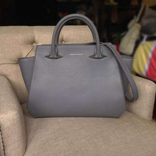 Charles & Keith Grey 2-Way Bag