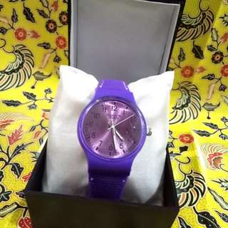 Jam Tangan Swatch Purple