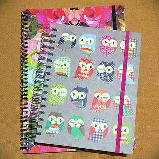 Typo & Paperchase spiral notebooks