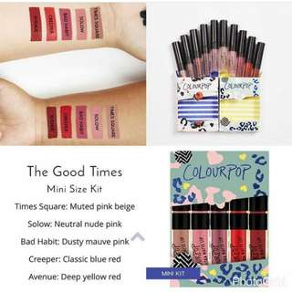 Colourpop Mini Size Ultra Matte Lip Kit in The Good Times