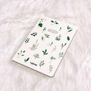 Leaf Print Bullet Journal