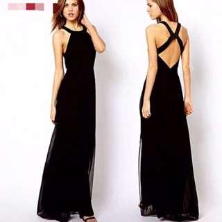 BN Long Black Dress
