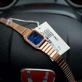 Casio LQ400R-2A Rosegold Blue