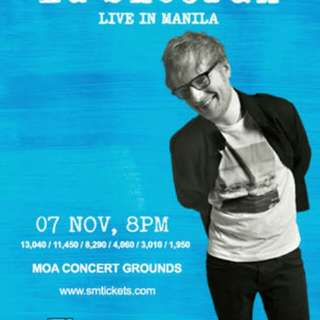 Ed Sheeran Live in Manila 2 Concert Tickets - Silver