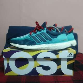 Adidas Ultra Boost 2.0 - Clear Green/ Mineral/ Shock Red