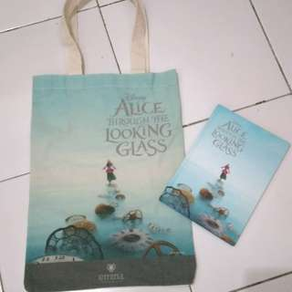 Tas / tote bag + notebook emina