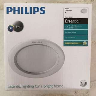 "Original Philips Downlight 4"" LED 8W"