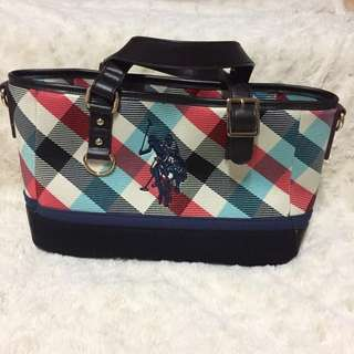 POLO Canvas with leather handbag