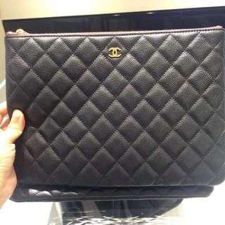 Chanel Calf leather Clutch-Blank