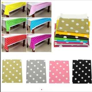 🎀Party Supplies - Disposable Polka Dots Tablecloths